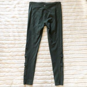 Athleta Leggings Criss Cross & Mesh Size LT